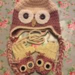 owl hat & mittens