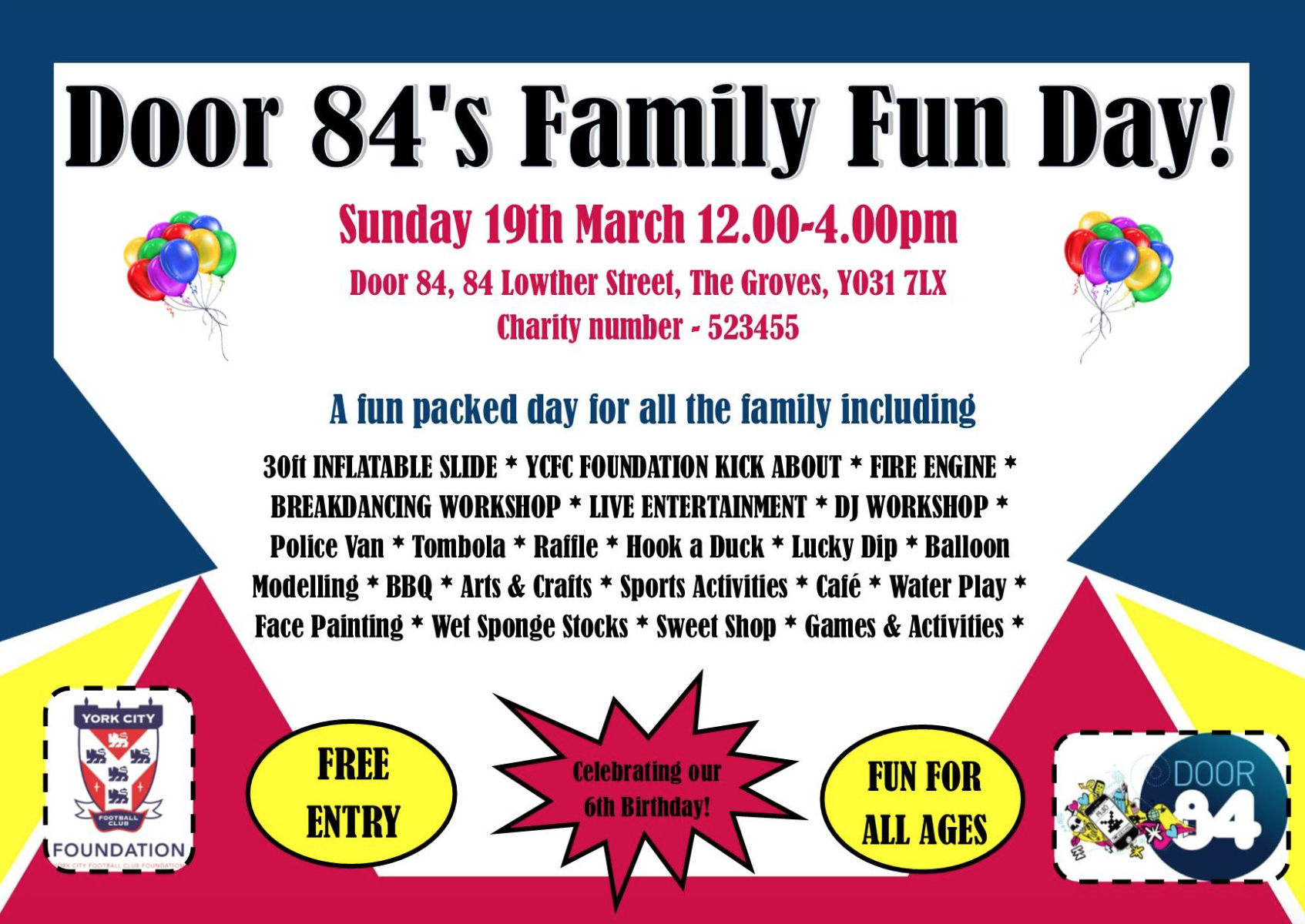 York mumbler door 84 family fun day for Door 84 youth club
