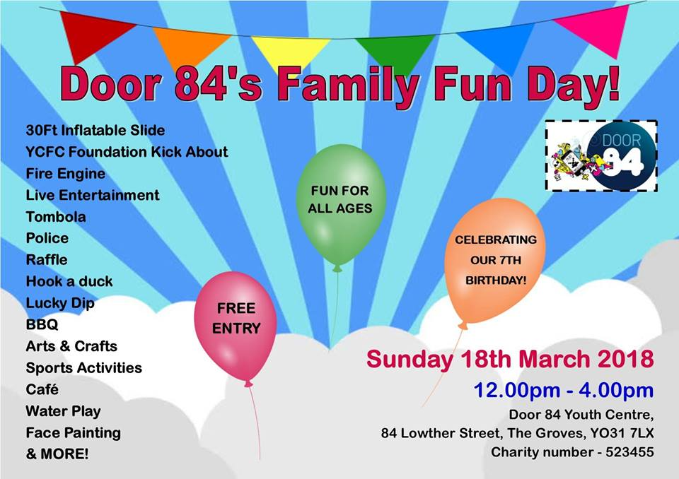 York mumbler door 84 s family fun day for Door 84 youth club