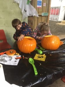 Busy carving at Spilmans