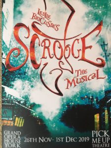 Programme for Scrooge at Grand Opera House