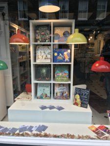 The Blue House Bookshop, York window