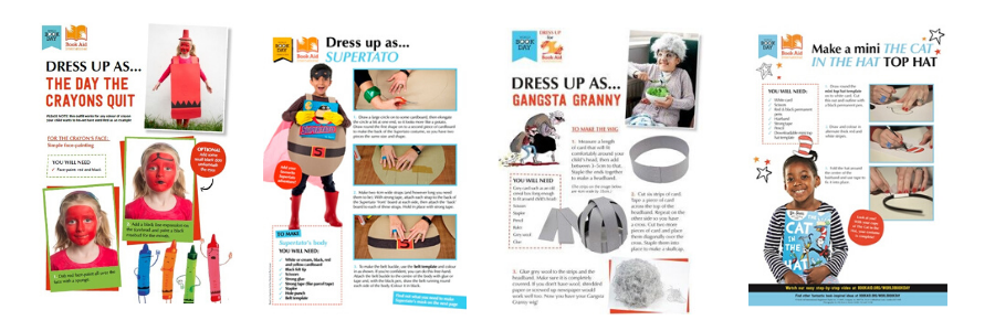 Dress up sheets World Book Day