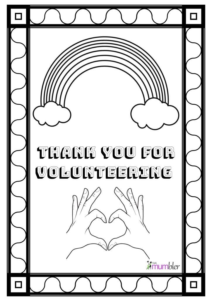Colouring Sheets To Say Thanks York Mumbler