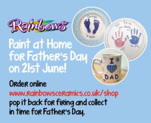 Fathers Day Rainbow Ceramics
