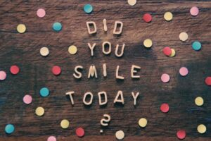 did you smile sign